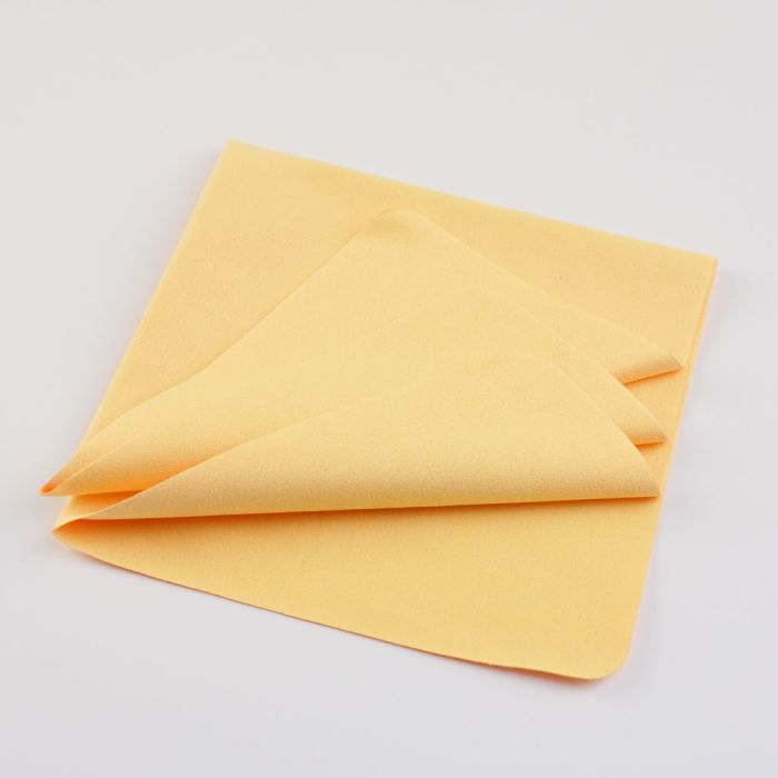 Microfiber cleaning cloth yellow