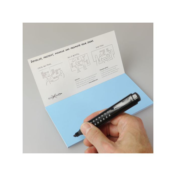 Stattys Notes M blau, Electrostatic self-adhesive moderation cards, self-adhesive notepaper, sticky magnetic notes, moderation card, stattys, stickynotes, stattys notes, statty, electrostatic foil, notepad, pad for drawing, office set, static notepad