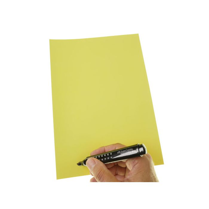 Stattys Notes XL yellow,  electrostatic self-adhesive moderation cards, self-adhesive notepaper, sticky magnetic notes, moderation card, stattys, stickynotes, stattys notes, statty, electrostatic foil, notepad, pad for drawing, office set