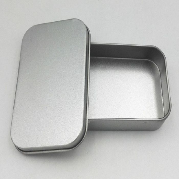 Plain rectangle tin box