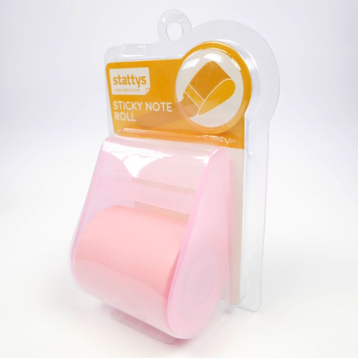 Sticky Notes Roll pink,, Post it roll, office, brainstorming, notes of liability, presentation, stattys notes, whiteboard, organize, organization, ideas, five colors, planning, green, yellow, pink, blue, white, paper