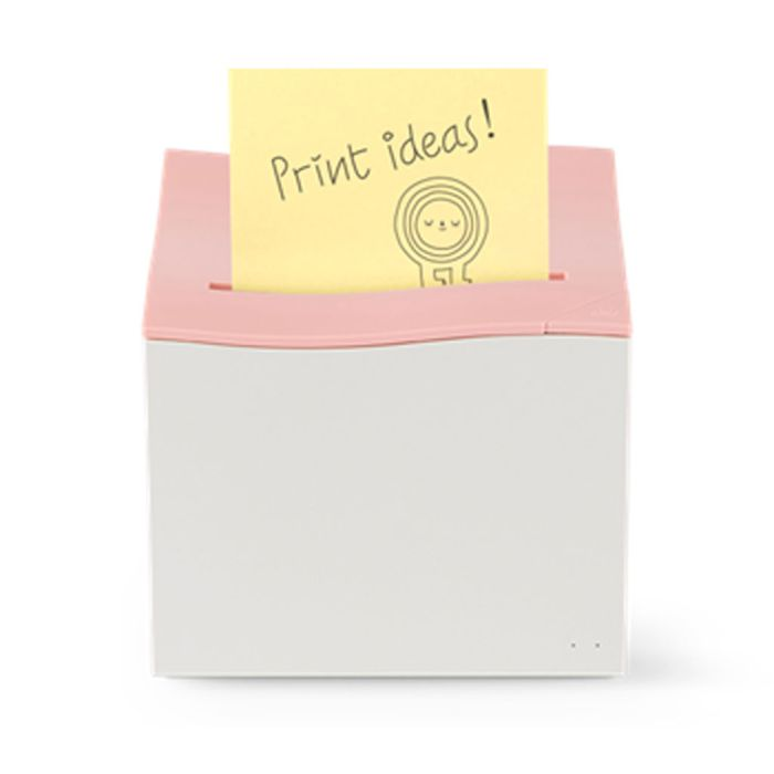 innovative sticky note printer, sticky notes printer, intelligent printer, beautiful design, device connection, connections, connection, Bluetooth 4.1, USB 2.0, sticky notes, printer, mini printer, small printer, digitize, digital, network-compatible, app