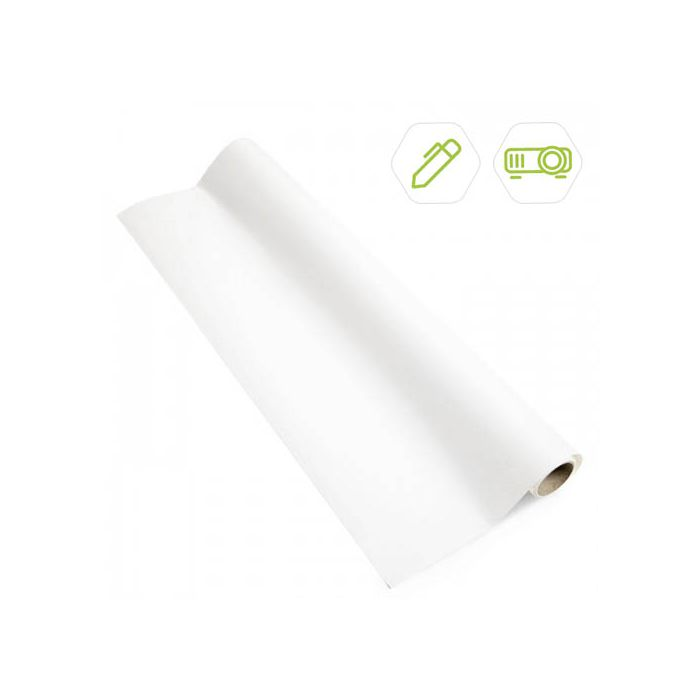 2-in-1 Wallcovering - Projector & Whiteboard 10m² - White