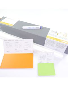 Stattys Starter Set, Stattys, slickynotes, stattys-notes, Whiteboardfolien, Stattys Notes Starter Set 1, Starter-Kit, Starter-Set Whiteboard, Traveler-Set, Reise-Set, Business-Set, statisches Whiteboard, selbstklebend Whiteboard, elektrostatisch