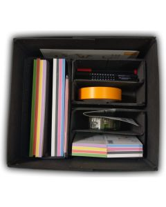 Workshop Box 1.0, stattys-notes, sticky-notes, magnetic-notes, writing-pad, notepad, markers, office accessorie set, office accessorie kit, Workshop box, Moderation box, moderation kit, moderation case, Presentation case, Moderation, Moderation accessorie