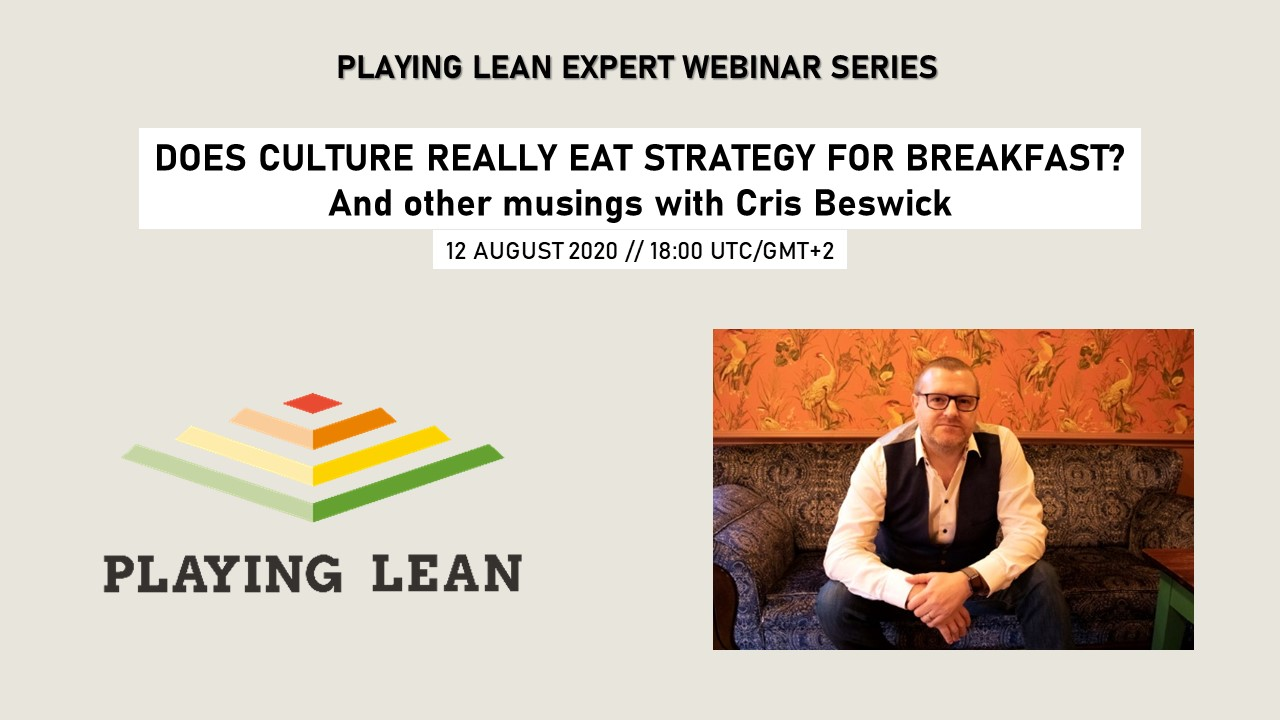 *English* Does culture really eat strategy for breakfast? And other musings with Cris Beswick